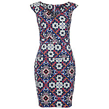 Buy French Connection Electric Mosaic Dress, Electric Blue Online at johnlewis.com
