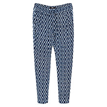 Buy Mango Baggy Mosaic Trousers, Navy Online at johnlewis.com