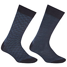 Buy John Lewis Merino Check Socks Online at johnlewis.com