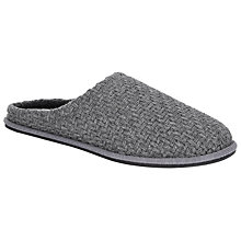 Buy Kin by John Lewis Basket Weave Slippers, Grey Online at johnlewis.com