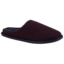 Buy John Lewis Chunky Knit Mule Slippers, Burgundy Online at johnlewis.com