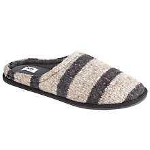 Buy Kin by John Lewis Fleck Stripe Slippers, Grey Online at johnlewis.com