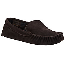 Buy John Lewis Check Lined Suede Alfie Moccasin Slippers Online at johnlewis.com