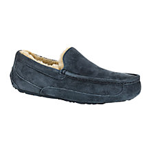 Buy UGG Ascot Moccasin Slippers, Navy Online at johnlewis.com