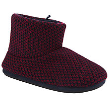 Buy John Lewis Chunky Knit Boot Slippers, Burgundy Online at johnlewis.com