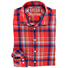 Buy Thomas Pink Sherwood Check Linen Shirt Online at johnlewis.com