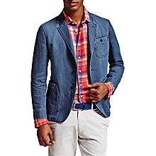 Buy Thomas Pink Reynolds Linen Blend Jacket, Blue Online at johnlewis.com