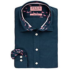 Buy Thomas Pink Bentley Slim Fit Button Cuff Shirt, Charcoal/Pink Online at johnlewis.com
