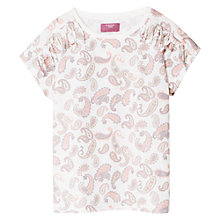 Buy Mango Kids Girls' Paisley Print T-Shirt, Off White Online at johnlewis.com