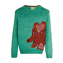 Buy Donna Wilson for John Lewis Girls' Bear Jumper, Green Online at johnlewis.com