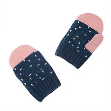 Buy John Lewis Cloud Mittens, Blue Online at johnlewis.com