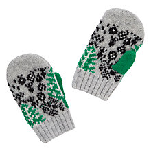 Buy Donna Wilson for John Lewis Leaf Mitten Gloves, Grey Online at johnlewis.com