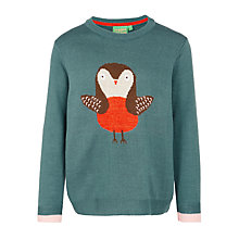 Buy Donna Wilson for John Lewis Girls' Robin Jumper, Teal Online at johnlewis.com
