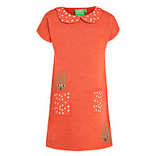 Buy Donna Wilson for John Lewis Girls' Knit Bunny Dress, Orange Online at johnlewis.com