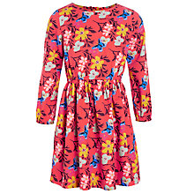 Buy John Lewis Girl Floral Print Dress, Red Online at johnlewis.com