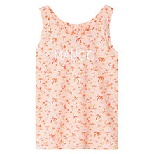 Buy Mango Kids Girls' Palm Strap T-Shirt, Peach Online at johnlewis.com