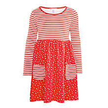 Buy John Lewis Girls' Spot Print Dress, Red Online at johnlewis.com