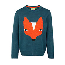 Buy Donna Wilson for John Lewis Girls' Fox Jumper, Teal Online at johnlewis.com