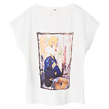 Buy Mango Kids Girls' Looney Tunes T-Shirt, Off White Online at johnlewis.com