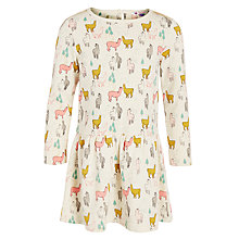 Buy John Lewis Girl Llama Print Dress, Cream/Multi Online at johnlewis.com