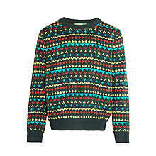 Buy Donna Wilson for John Lewis Girls' Intarsia Jumper, Green Online at johnlewis.com