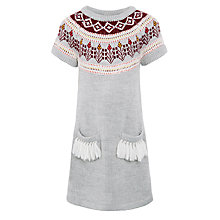 Buy John Lewis Girl Fairisle Fringe Dress Online at johnlewis.com