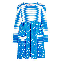Buy John Lewis Girls' Stripe Spot Print Dress Online at johnlewis.com