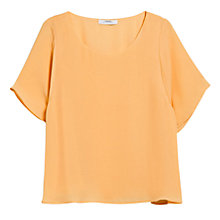 Buy Mango Flowy Blouse, Pastel Orange Online at johnlewis.com
