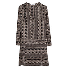 Buy Mango Ethnic Print Dress, Black Online at johnlewis.com