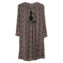 Buy Mango Beaded Panel Dress, Black Online at johnlewis.com