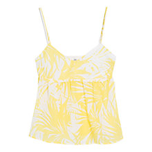 Buy Mango Printed Cotton Top, Daffodil Online at johnlewis.com
