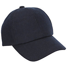 Buy John Lewis Melton Wool Baseball Cap, Navy Online at johnlewis.com