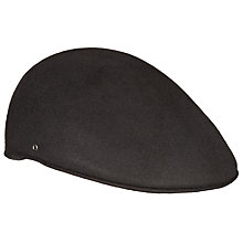 Buy John Lewis Wool Moulded Flat Cap, Black Online at johnlewis.com