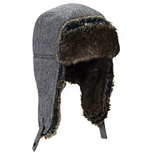 Buy John Lewis Herringbone Wool Trapper, Grey Online at johnlewis.com
