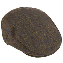 Buy John Lewis Window Check Wool Woven Flat Cap Online at johnlewis.com
