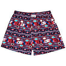 Buy Happy Socks Aztec Print Woven Boxers, Multi Online at johnlewis.com