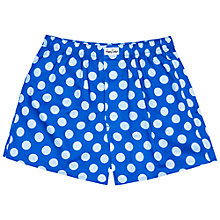 Buy Happy Socks Big Dot Woven Boxers Online at johnlewis.com