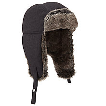 Buy John Lewis Pure Wool Melton Trapper, Charcoal Online at johnlewis.com
