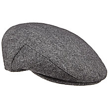Buy John Lewis Herringbone Cotton Flat Cap Online at johnlewis.com