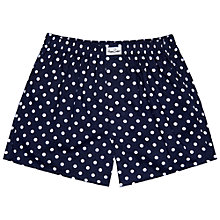 Buy Happy Socks Polka Dot Woven Boxers, Navy/White Online at johnlewis.com