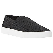 Buy Dune Turbo Woven Elasticated Slip On Trainers, Black Online at johnlewis.com
