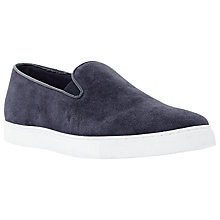 Buy Dune Trucker Suede Slip On Trainers, Navy Online at johnlewis.com