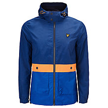 Buy Lyle & Scott Archive Stripe Hooded Jacket, Admiral Blue Online at johnlewis.com