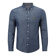 Buy Lyle & Scott Twill Chambray Shirt, Admiral Blue Online at johnlewis.com