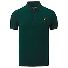 Buy Lyle and Scott Plain Pique Polo Top, Scotts Green Online at johnlewis.com