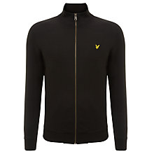 Buy Lyle & Scott Tricot Track Jacket, True Black Online at johnlewis.com