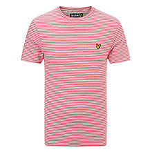 Buy Lyle & Scott Fine Stripe Print T-Shirt, Royal Red Online at johnlewis.com