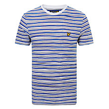 Buy Lyle & Scott Hand Drawn Stripe T-Shirt, White/Blue Online at johnlewis.com