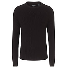 Buy Levi's Wool Cashmere Fisherman Jumper, Black Online at johnlewis.com