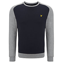 Buy Lyle & Scott Saddle Sleeve Crew Neck Sweatshirt Online at johnlewis.com